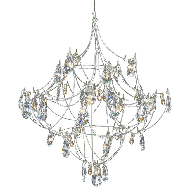 FJ Crystal Galaxy Pendant by PureEdge Lighting | FJ-CRYGA16-12-SN