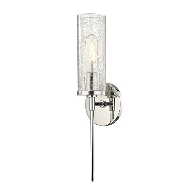 Olivia Clear Crackle Wall Light  by Mitzi