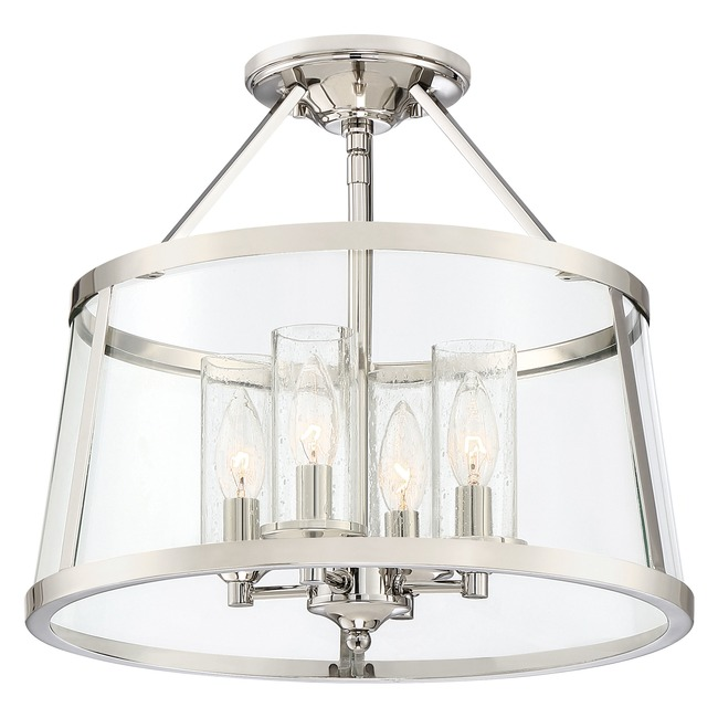 Barlow Semi Flush Mount Ceiling Light  by Quoizel