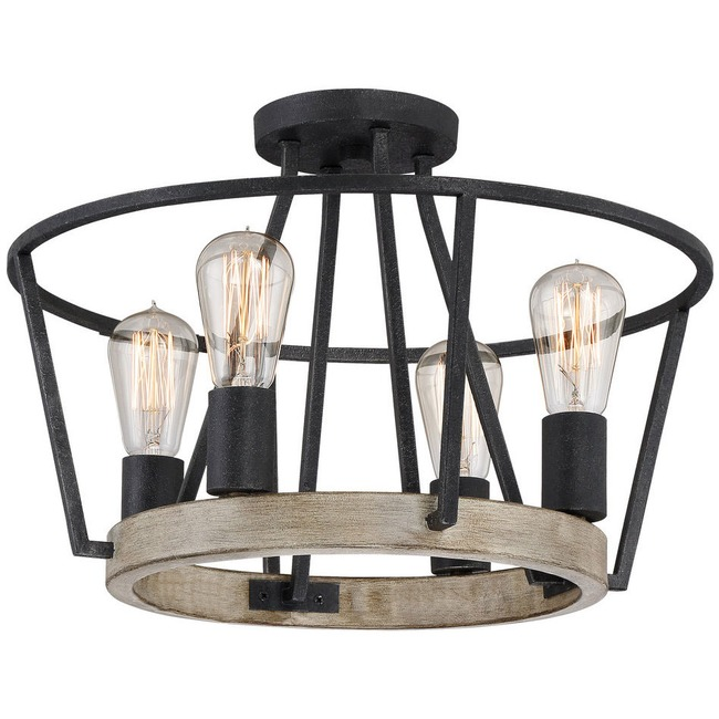 Brockton Convertible Pendant / Semi Flush Mount  by Quoizel