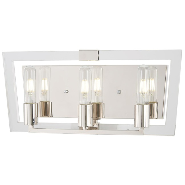 Crystal Chrome Bathroom Vanity Light  by George Kovacs