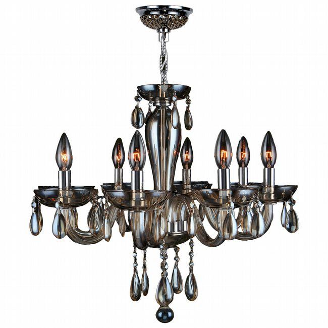 Gatsby 8 Light Chandelier by Lightology Collection | W83129C22-GT