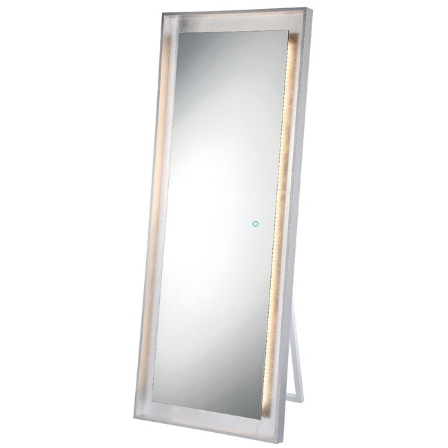 Rectangle Edge-Lit LED Standing Mirror  by Eurofase