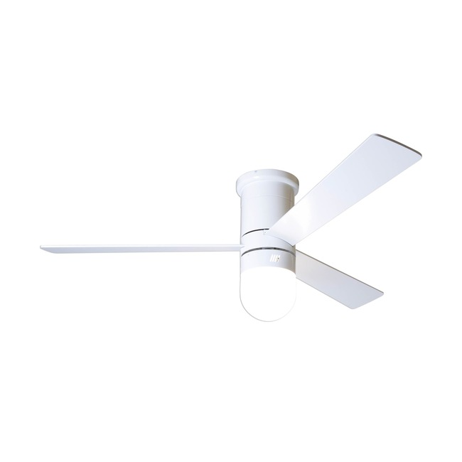 Cirrus Flush Ceiling Fan with Light by Modern Fan Co. | CIR-FM-GW-50-WH-354-003