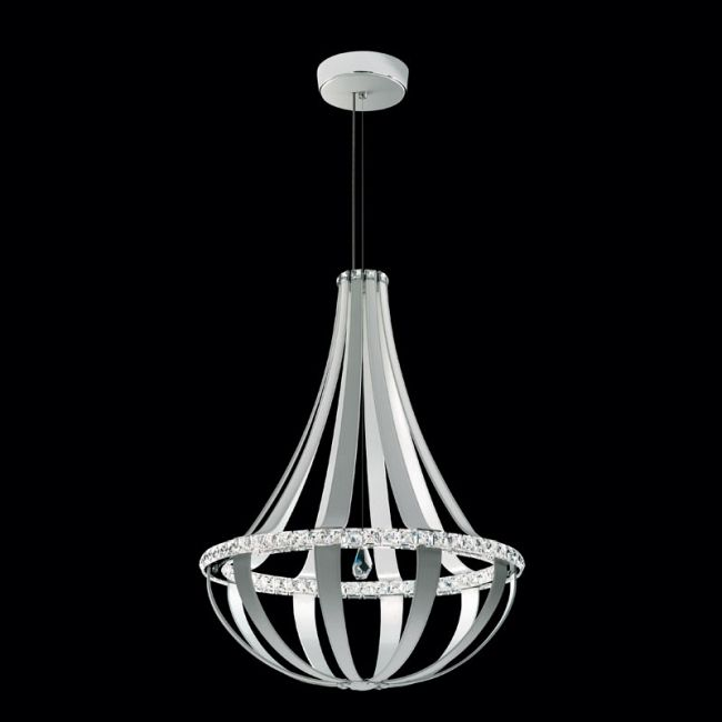 Crystal Empire 34 Inch 4000K LED Suspension by Swarovski | SCE131-LW1