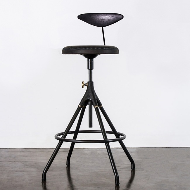 Akron Counter Stool with Back  by Nuevo Living