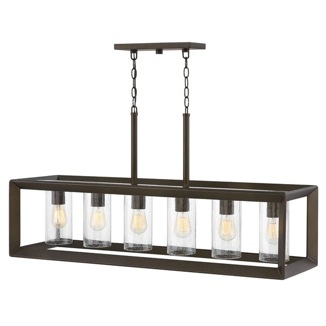 Rhodes 120V Outdoor Linear Chandelier  by Hinkley Lighting