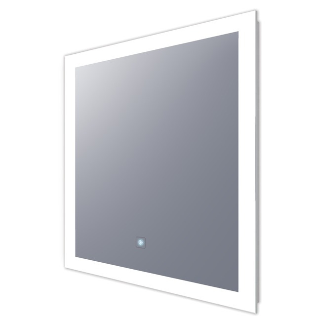 Silhouette Square Lighted Mirror with Keen Dimming  by Electric Mirror