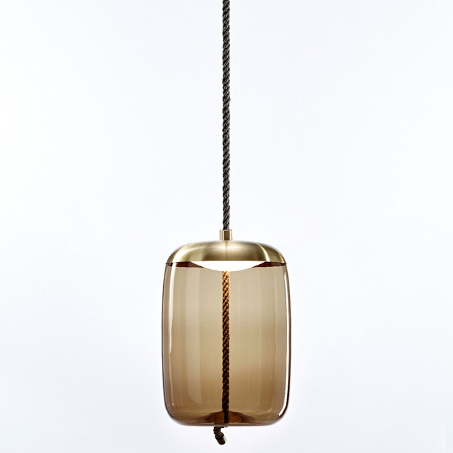Knot Cilindro Pendant  by Brokis