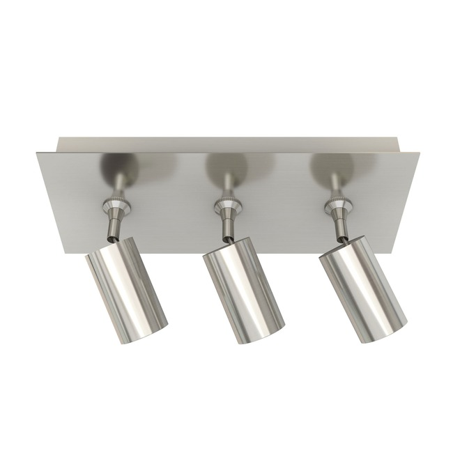 Piston 3 Light Monopoint with Rectangle Canopy  by PureEdge Lighting