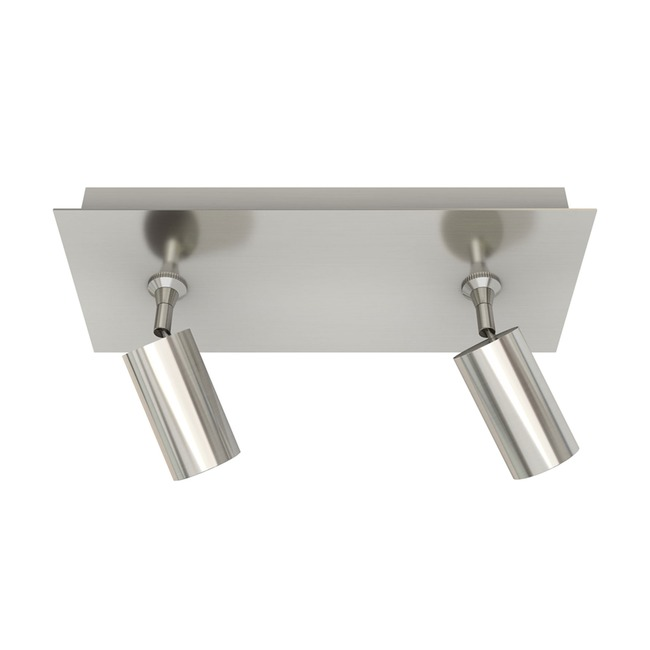 Piston 2 Light Monopoint with Rectangle Canopy  by PureEdge Lighting