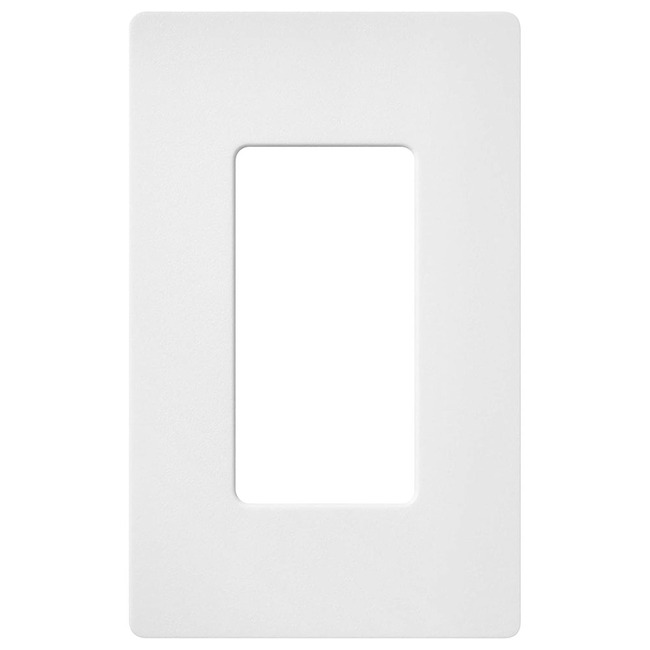 Claro 1-Gang Wall Plate by Lutron | sc-1-sw