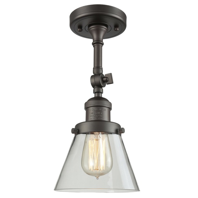 Small Cone Adjustable Semi Flush Ceiling Light  by Innovations Lighting