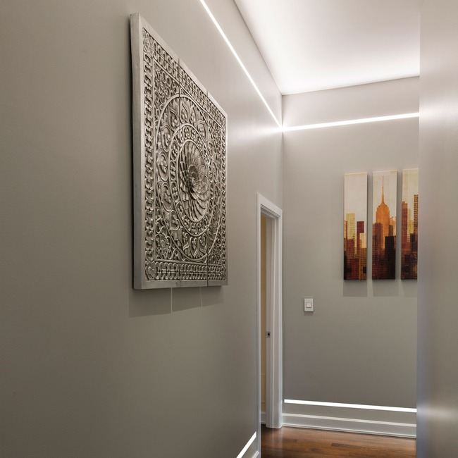 Reveal Warm Dim Cove/Pathway Plaster-In LED System 24V  by PureEdge Lighting