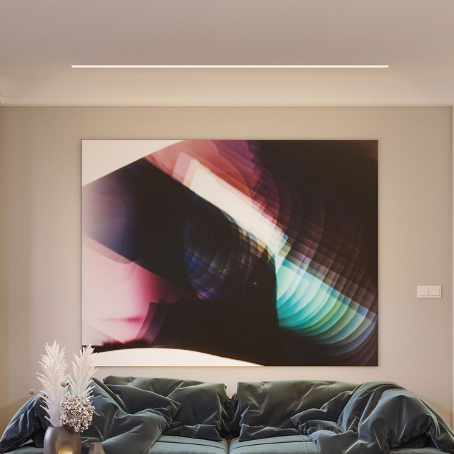 Reveal Wall Wash 5W Warm Dim Plaster-In System  by PureEdge Lighting