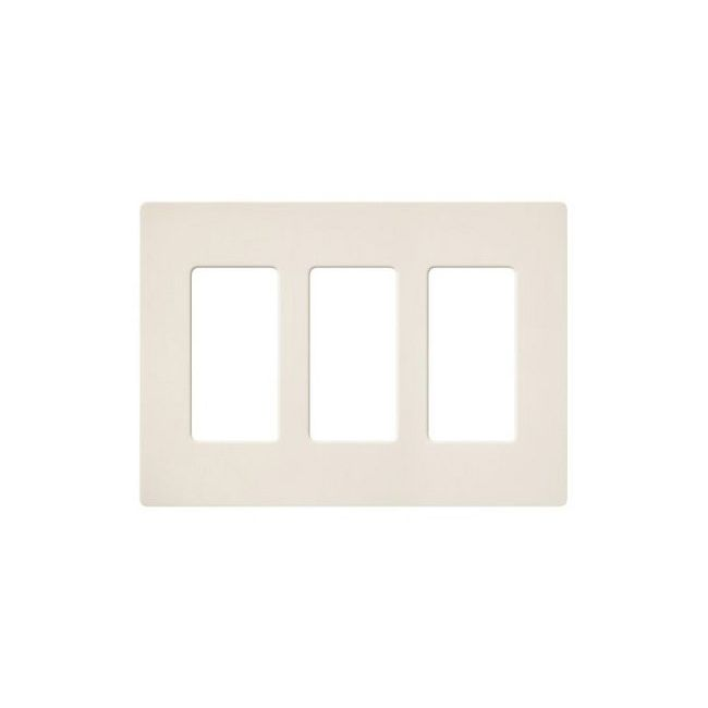 Claro Designer Style 3 Gang Wall Plate  by Lutron
