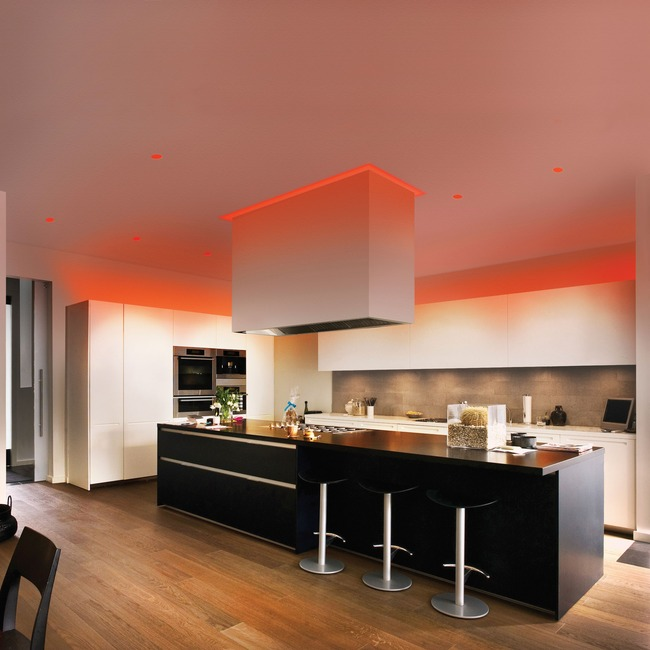 Verge Ceiling 6W RGBW RGB/White Plaster-In System  by PureEdge Lighting