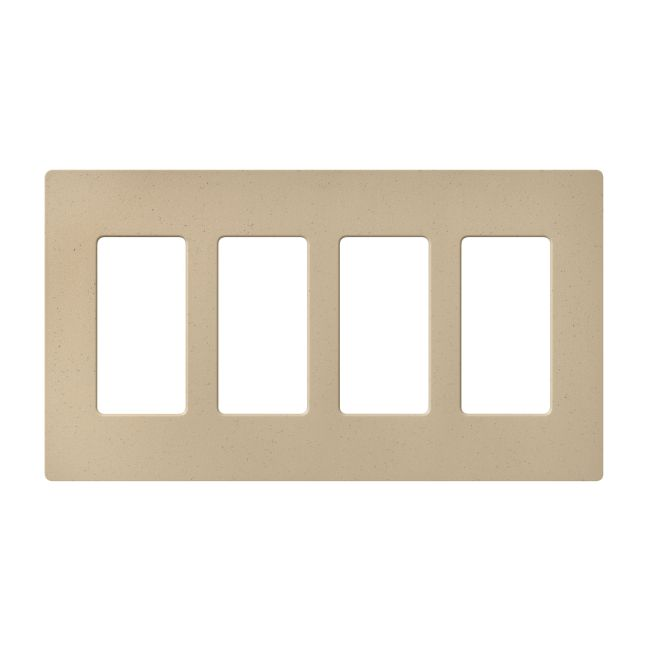 Claro Designer Style 4 Gang Wall Plate by Lutron | SC-4-DS