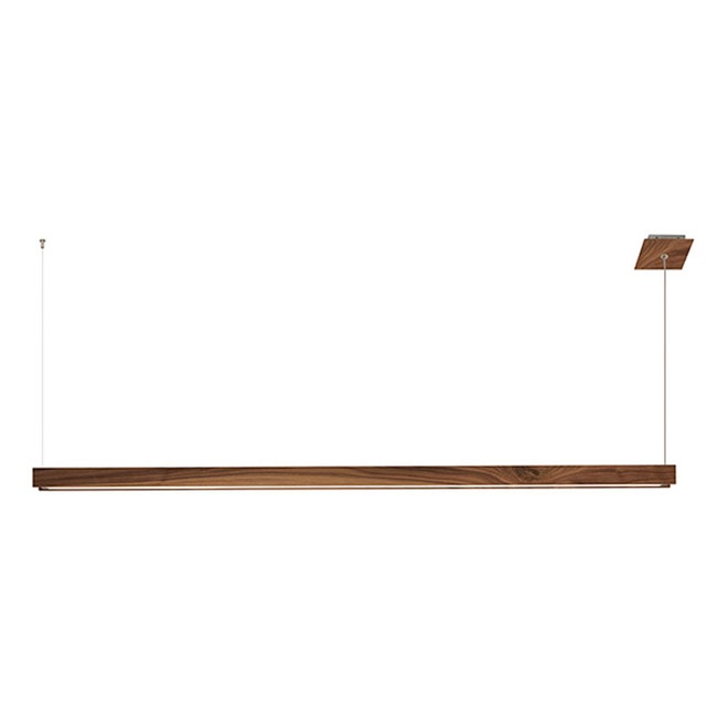 Glide Wood Up/Down Warm Dim End Feed Suspension  by PureEdge Lighting