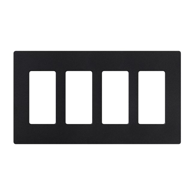 Claro Designer Style 4 Gang Wall Plate by Lutron | sc-4-mn