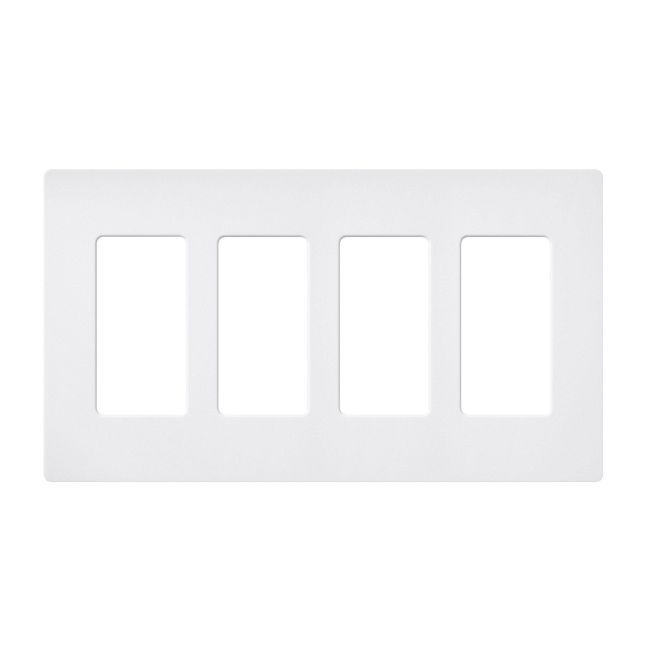 Claro Designer Style 4 Gang Wall Plate by Lutron   sc-4-sw