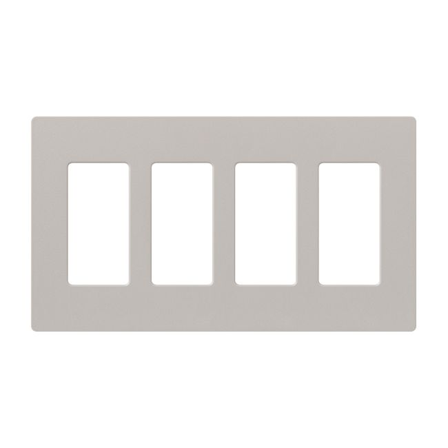 Claro Designer Style 4 Gang Wall Plate by Lutron   SC-4-TP