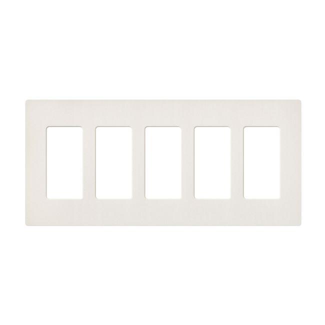 Claro Designer Style 5 Gang Wall Plate by Lutron | sc-5-bi