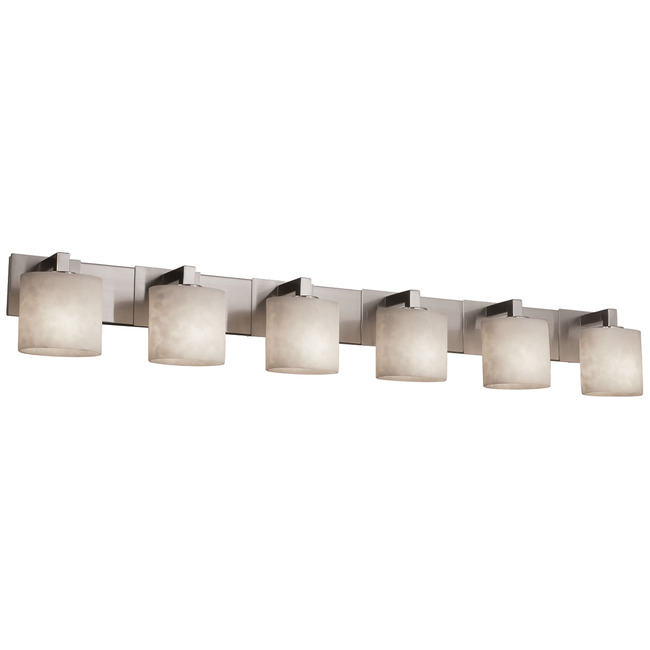 Modular Oval Light Bath Bar by Justice Design | CLD-8926-30-NCKL