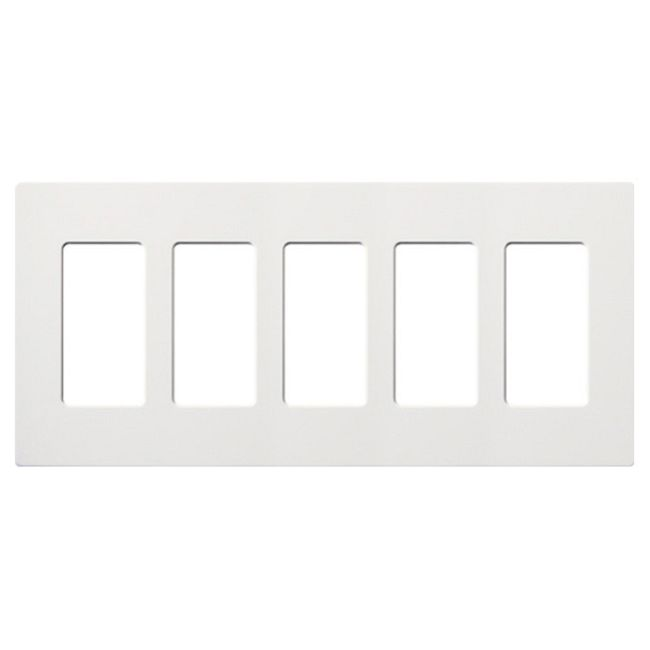 Claro Designer Style 5 Gang Wall Plate by Lutron | SC-5-SW
