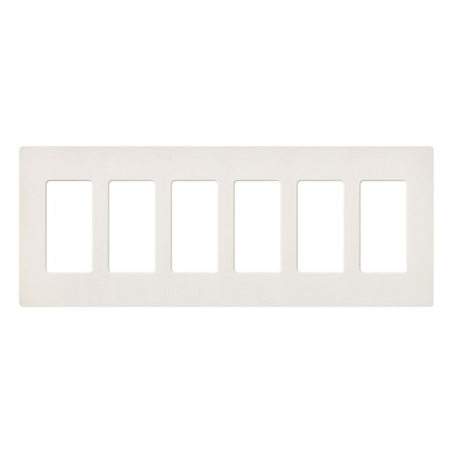 Claro Designer Style 6 Gang Wall Plate  by Lutron