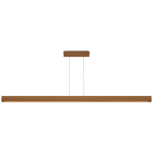 Glide Wood Up/Down Warm Dim Center Feed Suspension  by PureEdge Lighting