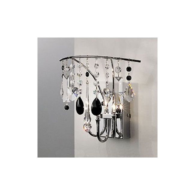 Sinus Wall Sconce by Lightology Collection   LC-DL-20A02 CH CL/BK