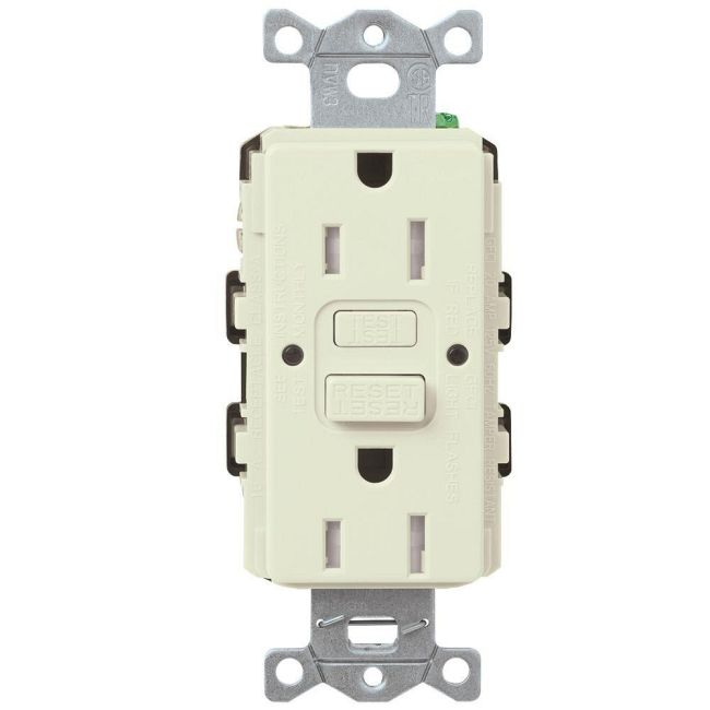 Claro 15A Tamper Resistant GFCI Receptacle  by Lutron