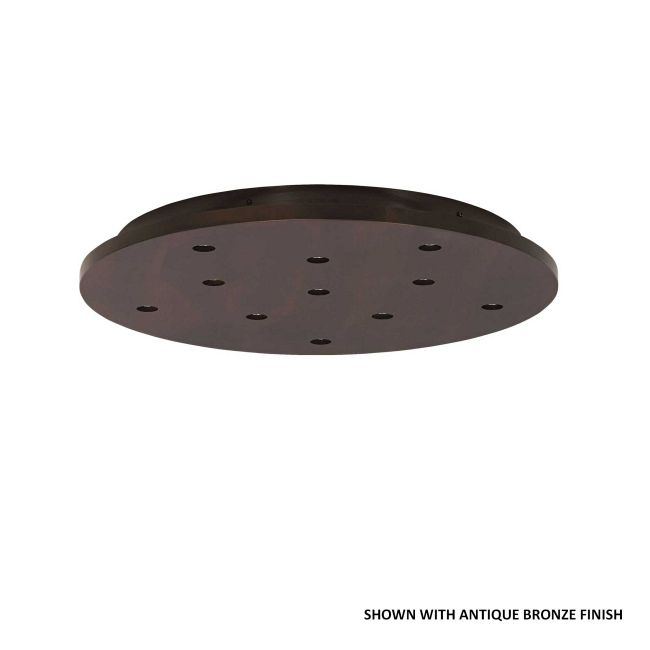 11 Port Line/Low Voltage Round Wood Canopy by Tech Lighting | 700FJPJRD11WS