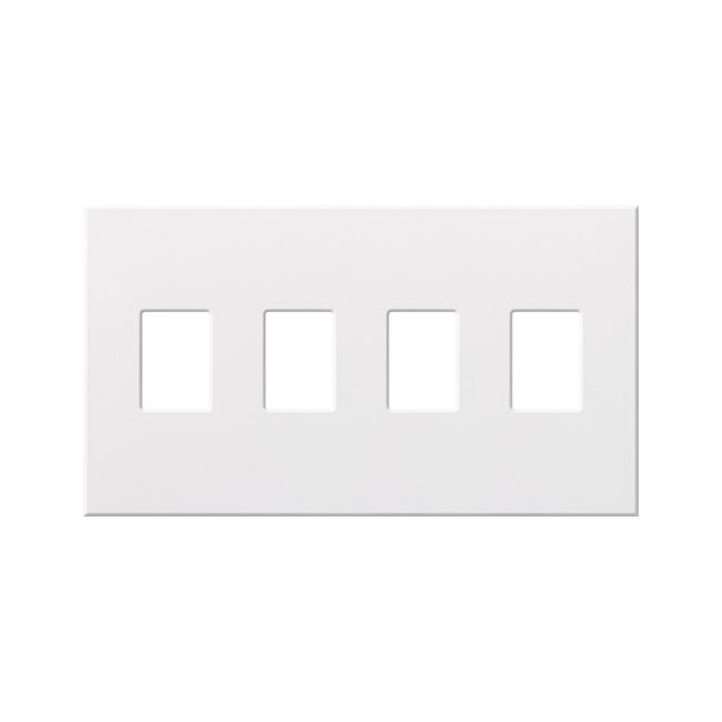 Architectural 4 Gang Wall Plate by Lutron   vwp-4-wh