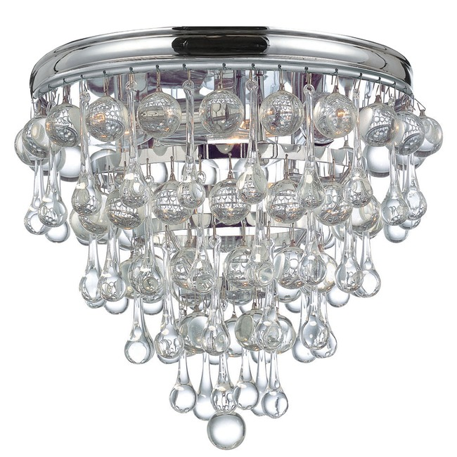 Calypso Flush Mount Ceiling Light by Crystorama | 135-CH
