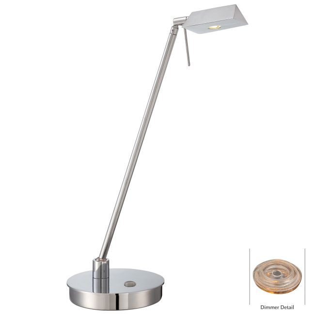 Georges Reading Room LED Triangle Head Desk Lamp  by George Kovacs