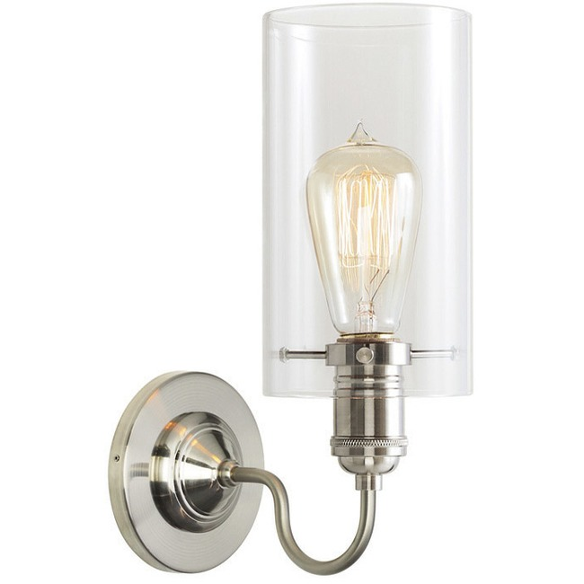 Retro Wall Light with Cylinder Shade  by Stone Lighting