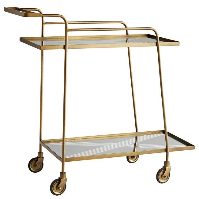 Odette Bar Cart  by Arteriors Home