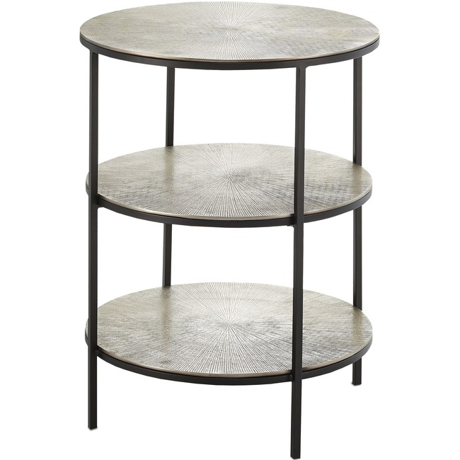 Cane Side Table  by Currey and Company