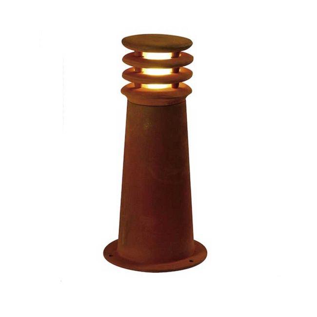 Rusty Tapered Outdoor Bollard by SLV Lighting | 4229020U