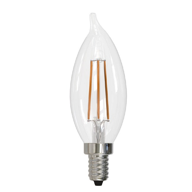 CA10 Flame Tip Candelabra Base 5W 120V 2700K 80CRI  by Bulbrite