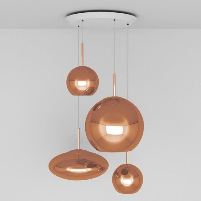 Range Round Multi Light Pendant  by Tom Dixon