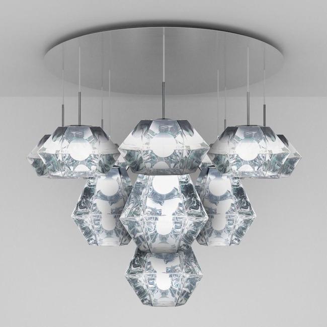 Cut Mega Multi Light Pendant  by Tom Dixon