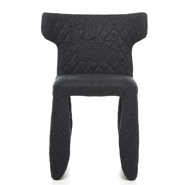Monster Divina Melange Side Chair with Embroidery and Arms  by Moooi