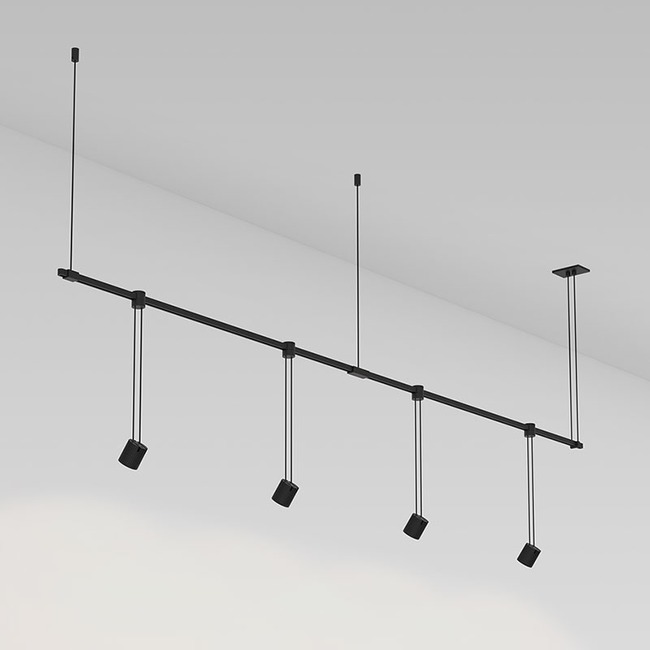 Suspenders Linear Pendant with Aimed Cylinders  by SONNEMAN - A Way of Light