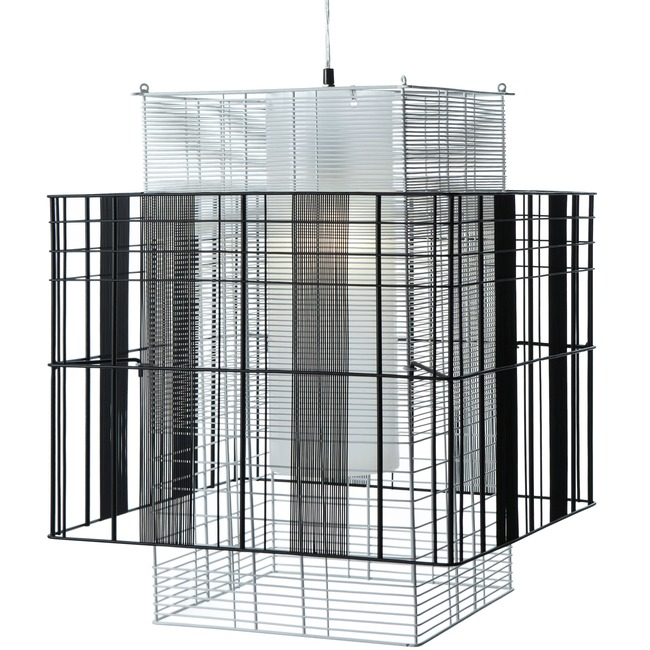 Mesh Cubic Small Pendant  by Forestier
