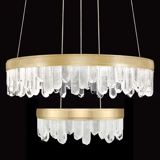 Lior Two Tier Reversible Pendant  by Fine Art Lamps