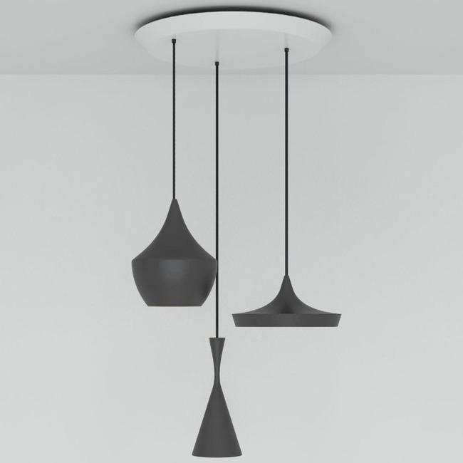 Beat Round Multi Light Pendant  by Tom Dixon