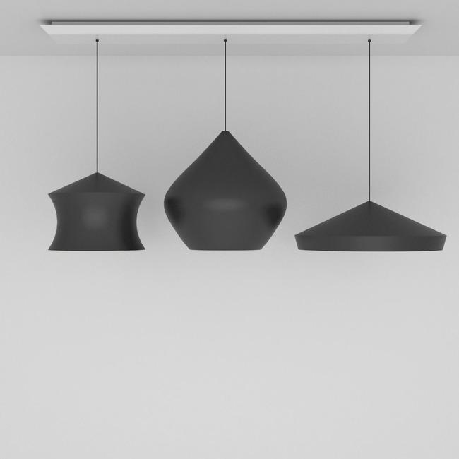 Beat Trio Linear Multi Light Pendant  by Tom Dixon